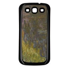 Claude Monet The Water Lilies Setting Sun Samsung Galaxy S3 Back Case (black) by ArtMuseum