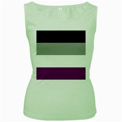 Asexual Pride Flag Lgbtq Women s Green Tank Top by lgbtnation
