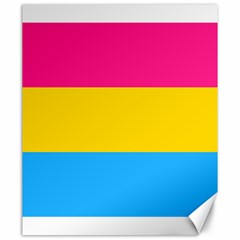 Pansexual Pride Flag Canvas 20  X 24  by lgbtnation