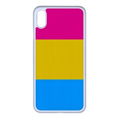 Pansexual Pride Flag Iphone Xs Max Seamless Case (white)