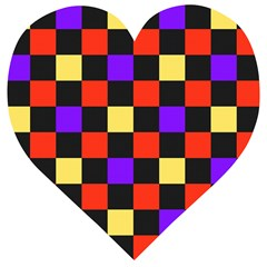 Checkerboard Again Wooden Puzzle Heart