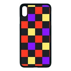 Checkerboard Again Iphone Xs Max Seamless Case (black) by impacteesstreetwearseven