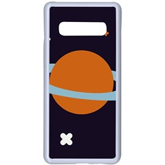Planet Orbit Universe Star Galaxy Samsung Galaxy S10 Plus Seamless Case(white)