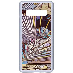Abstract Drawing Design Modern Samsung Galaxy S10 Plus Seamless Case(white)