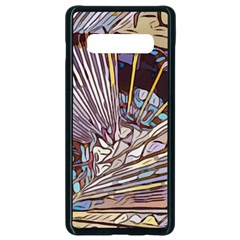 Abstract Drawing Design Modern Samsung Galaxy S10 Plus Seamless Case (black)