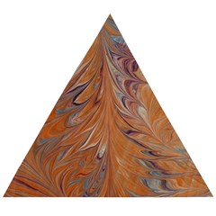 Marbled Paper Mottle Color Movement Wooden Puzzle Triangle