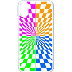 Checkerboard Again 8 Iphone X Seamless Case (white) by impacteesstreetwearseven