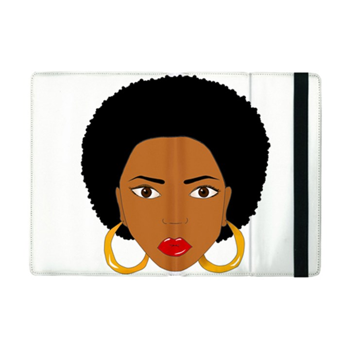 African American woman with сurly hair iPad Mini 2 Flip Cases
