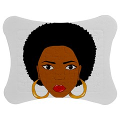 African American Woman With §?urly Hair Jigsaw Puzzle Photo Stand (bow) by bumblebamboo