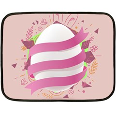 Easter Egg Colorful Spring Color Fleece Blanket (mini) by Pakrebo