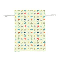 Clouds And Umbrellas Seasons Pattern Lightweight Drawstring Pouch (m)