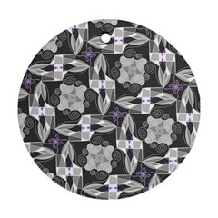 Ornament Pattern Background Round Ornament (two Sides) by Pakrebo