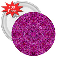 Flowering And Blooming To Bring Happiness 3  Buttons (100 Pack)  by pepitasart