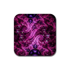 Fractal Art Digital Art Rubber Square Coaster (4 Pack)  by Pakrebo