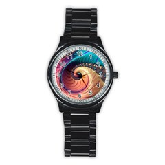 Fractal Multi Colored Fantasia Stainless Steel Round Watch