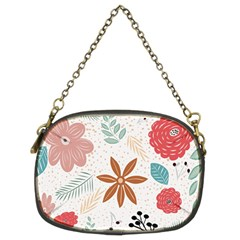 Nature Shape Leaves Flowers Art Chain Purse (two Sides) by Pakrebo
