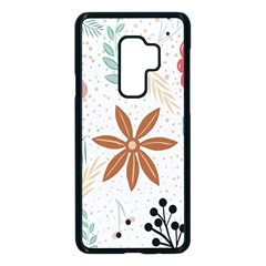 Nature Shape Leaves Flowers Art Samsung Galaxy S9 Plus Seamless Case(black) by Pakrebo
