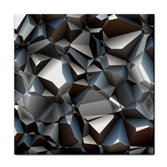 Triangles Polygon Color Silver Uni Face Towel by Pakrebo