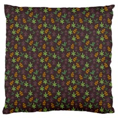 Tribal Leaves House Art Tribal Art Large Flano Cushion Case (two Sides) by Pakrebo