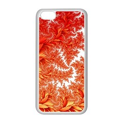 Flora Flowers Background Leaf Iphone 5c Seamless Case (white)