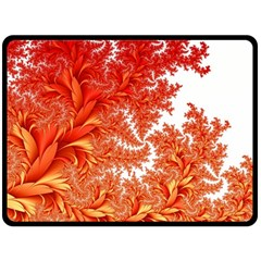 Flora Flowers Background Leaf Double Sided Fleece Blanket (large)