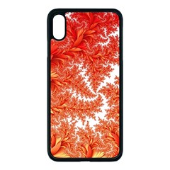 Flora Flowers Background Leaf Iphone Xs Max Seamless Case (black)
