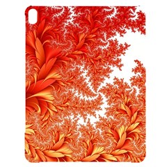 Flora Flowers Background Leaf Apple Ipad Pro 12 9   Black Uv Print Case