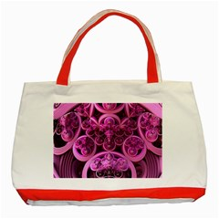 Fractal Math Geometry Visualization Pink Classic Tote Bag (red)