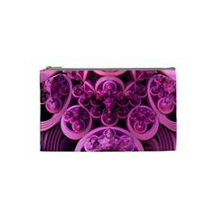 Fractal Math Geometry Visualization Pink Cosmetic Bag (small)
