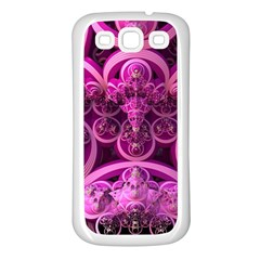 Fractal Math Geometry Visualization Pink Samsung Galaxy S3 Back Case (white)