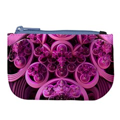 Fractal Math Geometry Visualization Pink Large Coin Purse