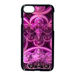 Fractal Math Geometry Visualization Pink Iphone 8 Seamless Case (black)
