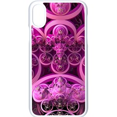 Fractal Math Geometry Visualization Pink Iphone X Seamless Case (white)