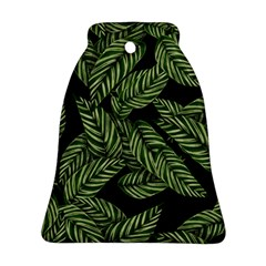 Leaves Pattern Tropical Green Ornament (bell) by Pakrebo