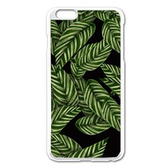 Leaves Pattern Tropical Green Iphone 6 Plus/6s Plus Enamel White Case