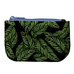 Leaves Pattern Tropical Green Large Coin Purse