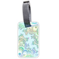 Pattern Background Floral Fractal Luggage Tag (one Side)