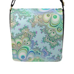 Pattern Background Floral Fractal Flap Closure Messenger Bag (l)