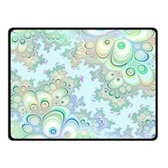 Pattern Background Floral Fractal Double Sided Fleece Blanket (small)