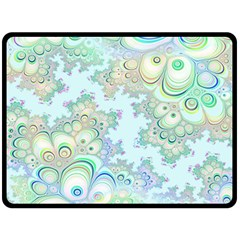 Pattern Background Floral Fractal Double Sided Fleece Blanket (large)