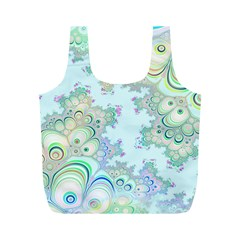 Pattern Background Floral Fractal Full Print Recycle Bag (m)