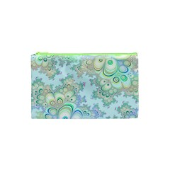 Pattern Background Floral Fractal Cosmetic Bag (xs)