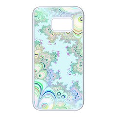 Pattern Background Floral Fractal Samsung Galaxy S7 White Seamless Case