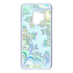 Pattern Background Floral Fractal Samsung Galaxy S9 Seamless Case(white)