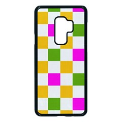 Checkerboard Again 3 Samsung Galaxy S9 Plus Seamless Case(black) by impacteesstreetwearseven