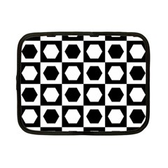 Chessboard Hexagons Squares Netbook Case (small)