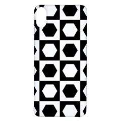 Chessboard Hexagons Squares Iphone X/xs Soft Bumper Uv Case