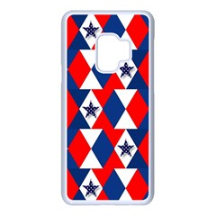 Patriotic Stars Samsung Galaxy S9 Seamless Case(white)