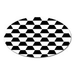 Hexagons Pattern Tessellation Oval Magnet Front