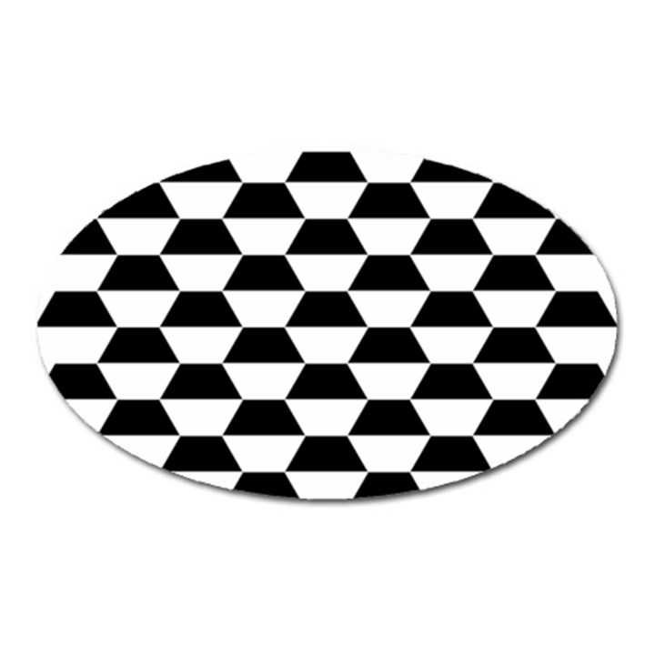 Hexagons Pattern Tessellation Oval Magnet